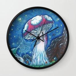 Spooky mushrooms Wall Clock