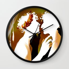 Achilles and Patroclus - Richard Siken Wall Clock