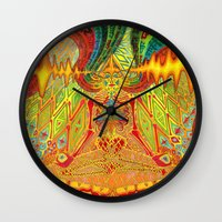 meditation Wall Clocks featuring Meditation by Vedran Misic