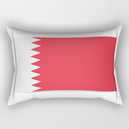 Flag of Bahrain. The slit in the paper with shadows. Rectangular Pillow