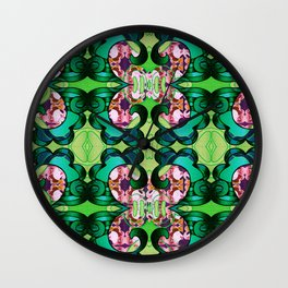 Ultra Garden Green Feng Shui Stunning Psychedelic Abstract Wall Clock
