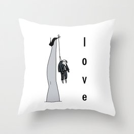 the woman's leg . love . art . Throw Pillow
