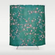SAKURA LOVE - GREEN Shower Curtain