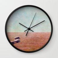 bon iver Wall Clocks featuring bon appétit by Claudia Drossert