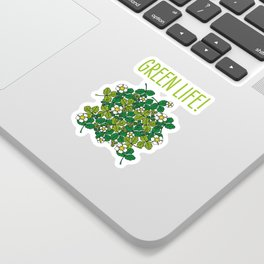 green density full of leaves and flowers Sticker