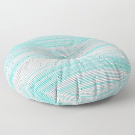 Sky Blue Random Line Sections Floor Pillow