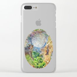 Squirrel Fever Clear iPhone Case