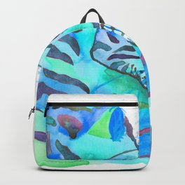 Cuddling Tigers - Tropical Turquoise Backpack