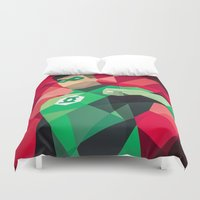 dc comics Duvet Covers featuring DC Comics Green Lantern by Eric Dufresne