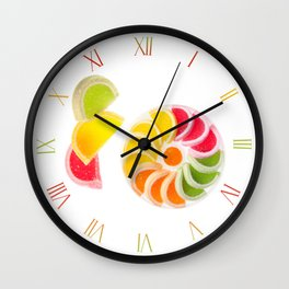 Multicolored chewy wine gums Wall Clock