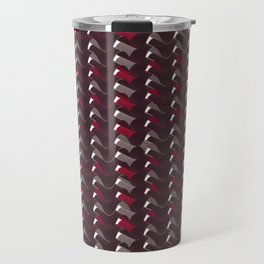 Lovely Dark Red Pattern Travel Mug