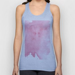 Pink Watercolor Unisex Tank Top