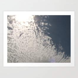 Made with clouds Art Print