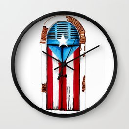 Puerta Bandera Wall Clock