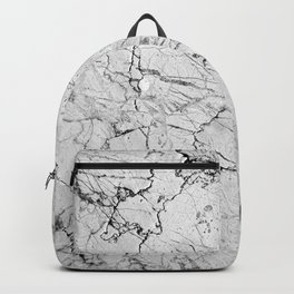 gray stone cracked marble Backpack
