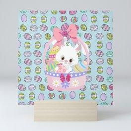 Easter Bunny Easter Basket Mini Art Print
