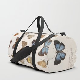 Vintage Scientific Insect Butterfly Moth Biological Hand Drawn Species Art Illustration Duffle Bag