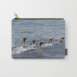 Swimming King Penguins Carry-All Pouch