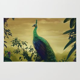 Green Peafowl (pavo muticus) Rug