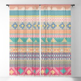 Tribal Tapestry Sheer Curtain