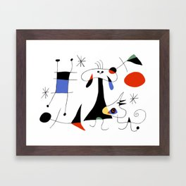 Joan Miro The Sun (El Sol) 1949 Painting Artwork For Prints Posters Tshirts Bags Women Men Kids Framed Art Print