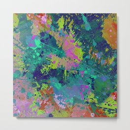 Messy Art I - Abstract, paint splatter painting, random, chaotic and messy artwork Metal Print
