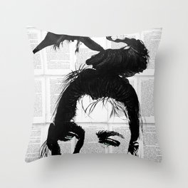 Can be bw Throw Pillow