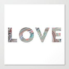 Marbled LOVE Canvas Print