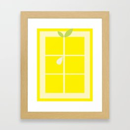 Rectangle lemon Framed Art Print