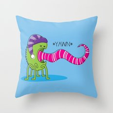 Even Monsters Get Sleepy Throw Pillow