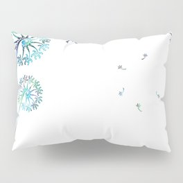 Dandelion Paua White Pillow Sham