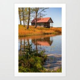 Arkansas Farmhouse Reflections Art Print