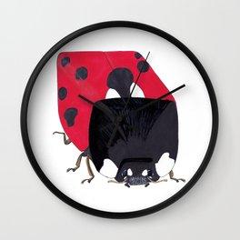Cubed Ladybug Wall Clock