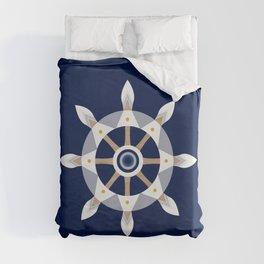 Nautical Rudder Duvet Cover