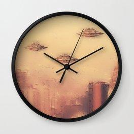 Aliens in New York Wall Clock