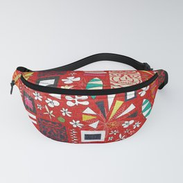 tiki red Fanny Pack