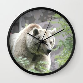 Bear Poster Wall Clock