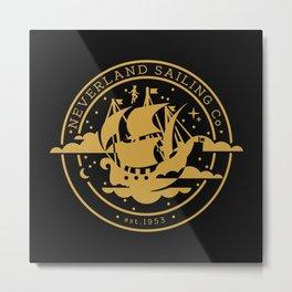 Neverland Sailing Co. Metal Print