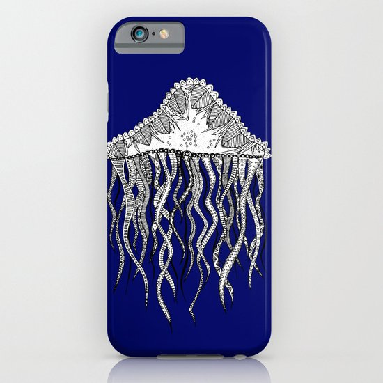 Blue Jellyfish iPhone & iPod Case