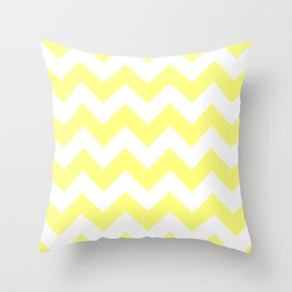 Butter Yellow Chevron Throw Pillow