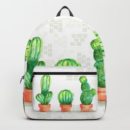 Watercolor Cacti Backpack
