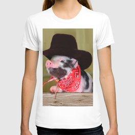 Puppy Cowboy Baby Piglet Farm Animals Babies T-shirt