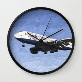 One World Boeing 747 Art Wall Clock