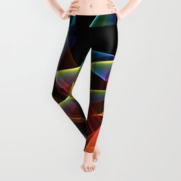 Dancing Northern Lights, Abstract Summer Sky Leggings