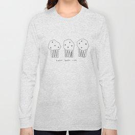 Sweet Sweet Life - cupcake illustration Long Sleeve T-shirt