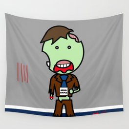 Java Saves Zombie Wall Tapestry