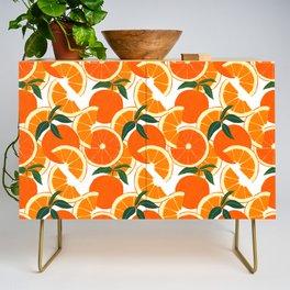 Orange Harvest - White Credenza