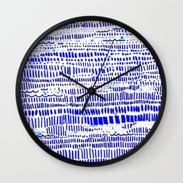 Textural lines and dashes Wall Clock