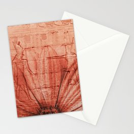 egypt pattern flower red Stationery Cards