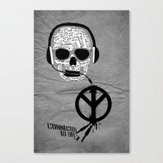 Love' skull -  a collaboration between Sam Guilhen and Gwenola de Muralt - Canvas Print
